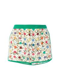 Pantalones cortos estampados en blanco y verde de RED Valentino