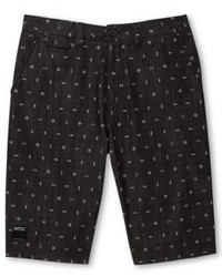 Pantalones cortos estampados en gris oscuro