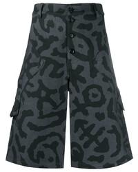 Pantalones cortos estampados en gris oscuro de Moschino