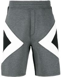 Pantalones cortos estampados en gris oscuro de Neil Barrett