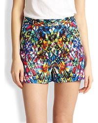 da99753594 Top de bikini estampado en multicolor Pantalones cortos estampados en  multicolor ...