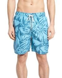 Pantalones cortos estampados en turquesa