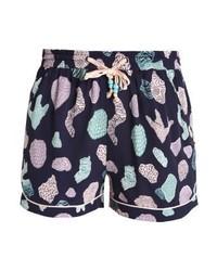 Pantalones Cortos Estampados Morado Oscuro de Nümph