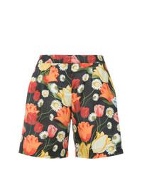 Pantalones cortos estampados negros de Mother of Pearl