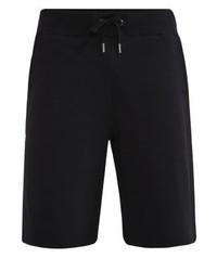 Pantalones Cortos Estampados Negros de Versace