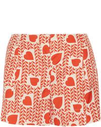 Pantalones cortos estampados rojos