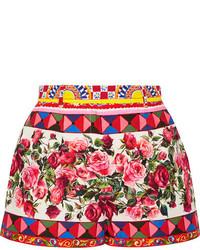 Pantalones Cortos Estampados Rosa de Dolce & Gabbana