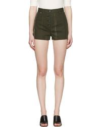 Pantalones cortos estampados verde oliva de Proenza Schouler