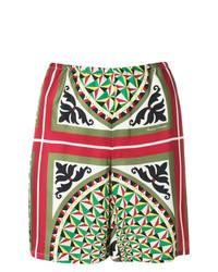 Pantalones cortos estampados verdes de Barena