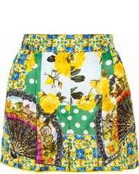 Pantalones cortos estampados verdes de Dolce & Gabbana