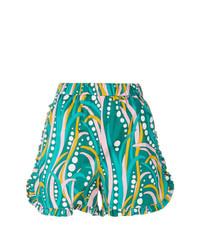 Pantalones cortos estampados verdes de La Doublej