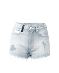 Pantalones cortos grises de Marcelo Burlon County of Milan