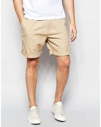 Pantalones cortos marrón claro de Lacoste