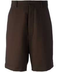 Pantalones Cortos Marrón Oscuro de AMI Alexandre Mattiussi