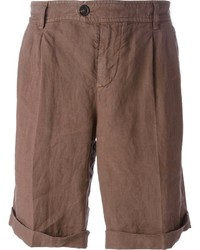 Pantalones cortos marrónes de Brunello Cucinelli