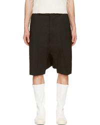 Pantalones cortos negros de Rick Owens