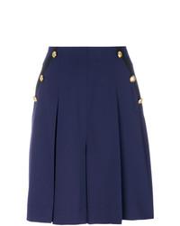 Pantalones cortos plisados azul marino de Lanvin