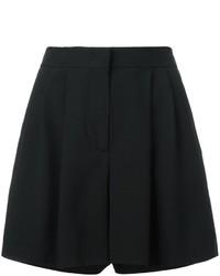 Pantalones cortos plisados negros de Alberta Ferretti