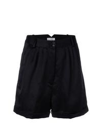 Pantalones cortos plisados negros de Forte Forte