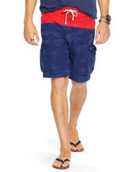 Pantalones Cortos Rojos y Azul Marino