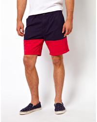 Pantalones Cortos Rojos y Azul Marino de 55dsl