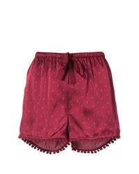 Pantalones cortos rojos de Figue