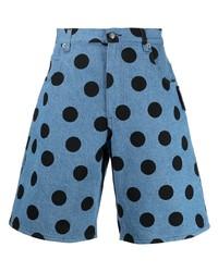 Pantalones cortos vaqueros a lunares azules de Moschino