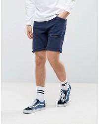 Pantalones cortos vaqueros azul marino de Asos