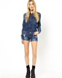 Pantalones cortos vaqueros azul marino de Only