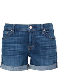 Pantalones cortos vaqueros azules de 7 For All Mankind