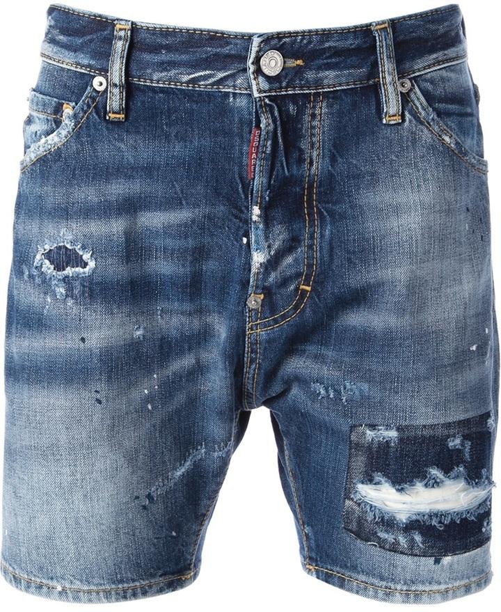 ... Pantalones cortos vaqueros azules de DSquared 5321c3c679c