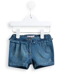 Pantalones cortos vaqueros azules de Miss Blumarine