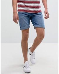 Pantalones cortos vaqueros azules de Pull&Bear