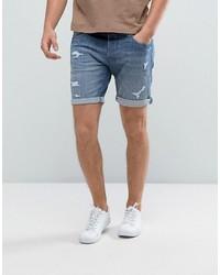 Pantalones Cortos Vaqueros Azules de Selected