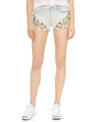 Pantalones cortos vaqueros bordados celestes de Blank