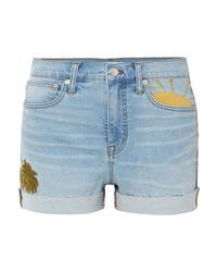 Pantalones cortos vaqueros bordados celestes de Madewell