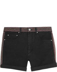 Pantalones cortos vaqueros bordados negros de Etoile Isabel Marant