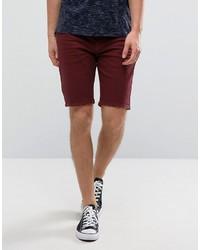 Pantalones cortos vaqueros burdeos de Asos