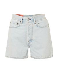 Pantalones cortos vaqueros celestes de Acne Studios