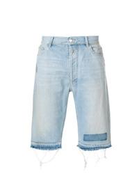 Pantalones cortos vaqueros celestes de Marcelo Burlon County of Milan
