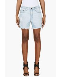 Pantalones cortos vaqueros celestes