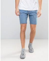 Pantalones Cortos Vaqueros Celestes de Selected