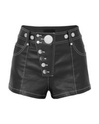 Pantalones cortos vaqueros con adornos negros de Alexander Wang
