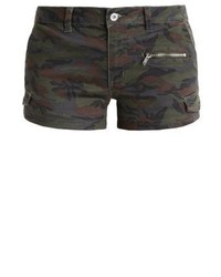 Pantalones cortos vaqueros de camuflaje en marrón oscuro de TWINTIP