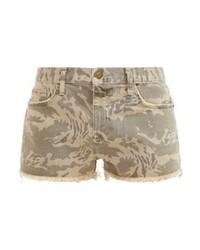 Pantalones cortos vaqueros de camuflaje marrón claro de Current/Elliott