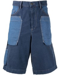 Pantalones cortos vaqueros de patchwork azul marino de Diesel