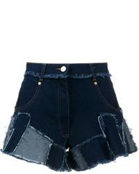 Pantalones cortos vaqueros de patchwork azul marino de Natasha Zinko