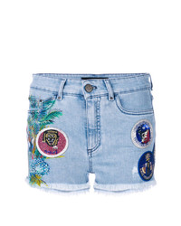 Pantalones cortos vaqueros de patchwork azules de Mr & Mrs Italy