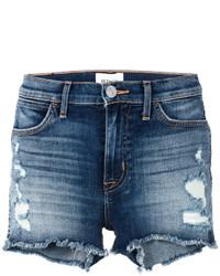 Pantalones cortos vaqueros desgastados azul marino de Hudson