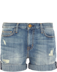 Pantalones cortos vaqueros desgastados azules de Current/Elliott